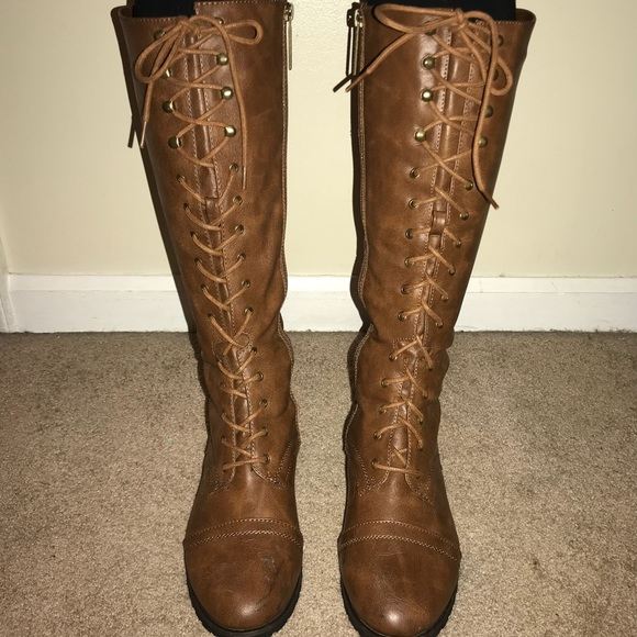 Shoes   Laceup Riding Boots   Poshmark